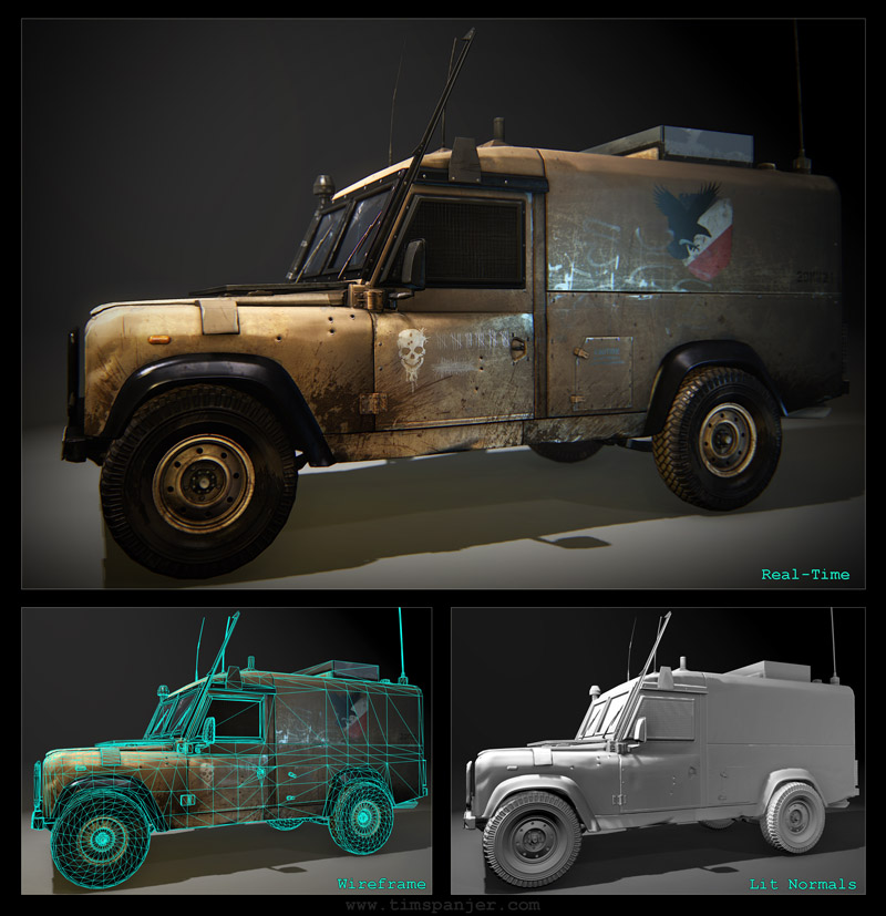 Tim Spanjer - 3D Environment Art - Vehicle Artist - Military Vehicle